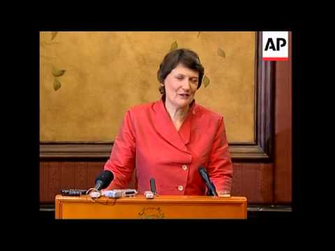 NZ Prime Minister Helen Clark visits, speech