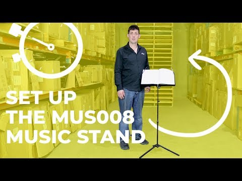QUICK DEMO - How to Unfold the MUS008 Portable Music Stand
