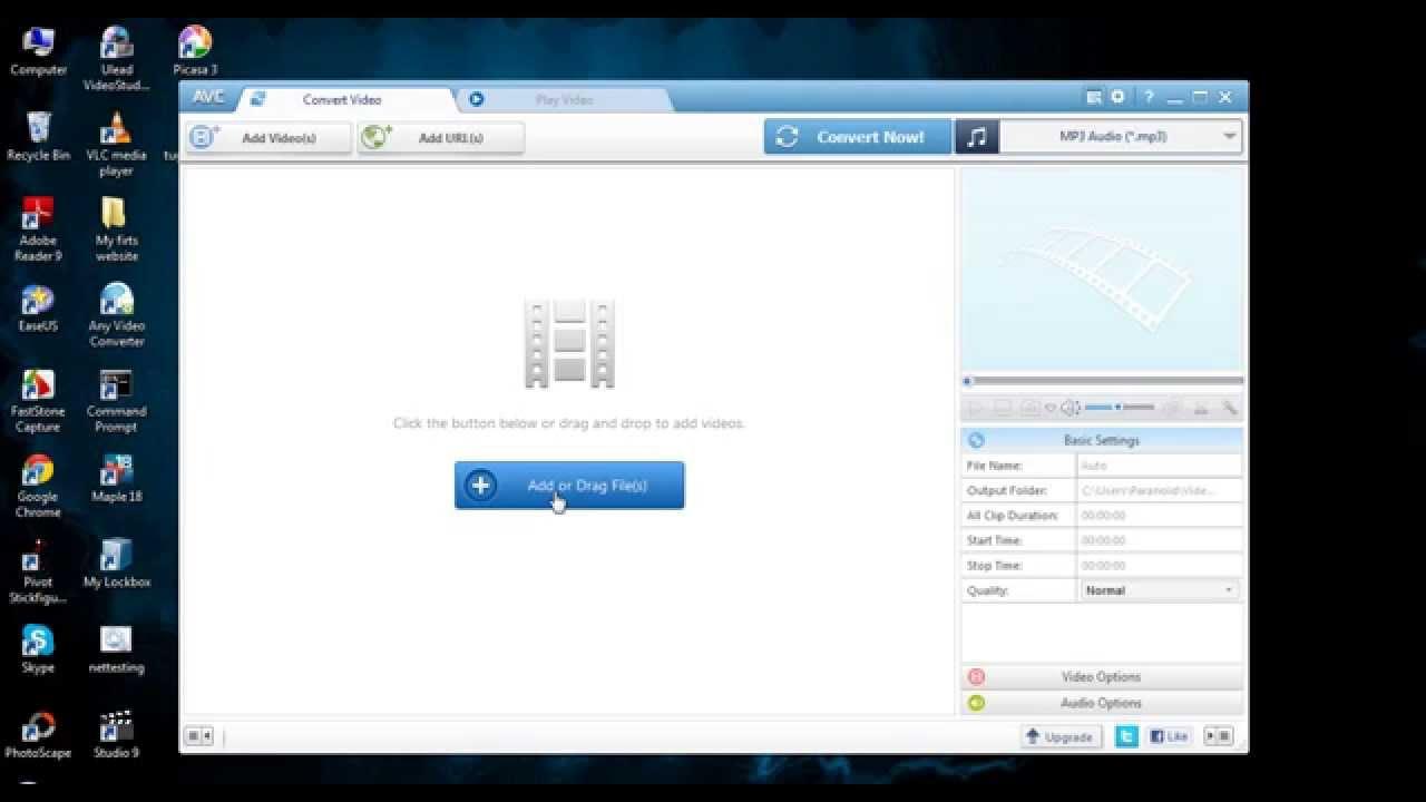 Cara Convert File Mp4 Ke Mp3 Menggunakan Any Video Converter Youtube