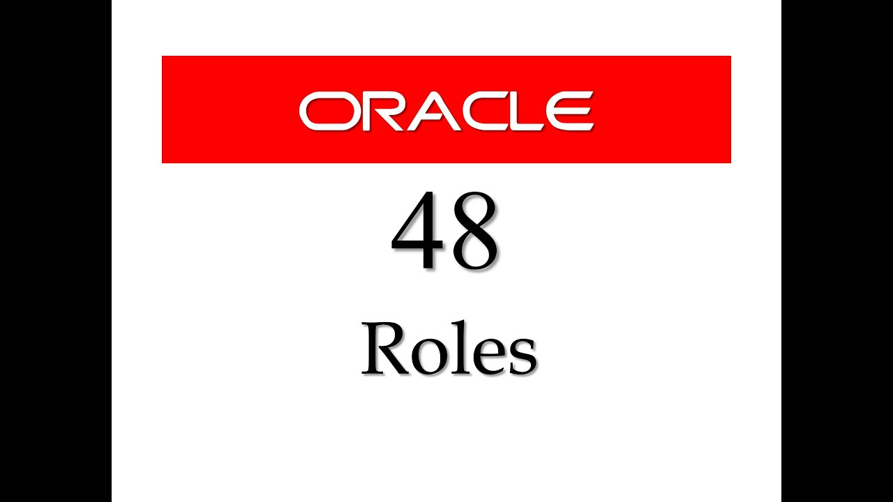 SQL tutorial 48: How to create Roles in Oracle Database