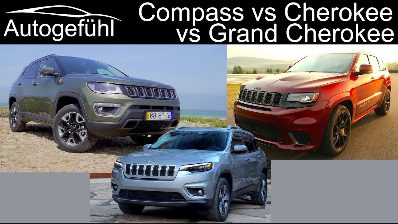 Jeep Cherokee Vs Grand Cherokee >> Overview Jeep Compass Vs Cherokee Vs Grand Cherokee Comparison Jeep Suvs Autogefuhl