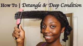 How To | Detangle & Deep Condition Natural Hair *Updated Deep Condition Routine 2017*