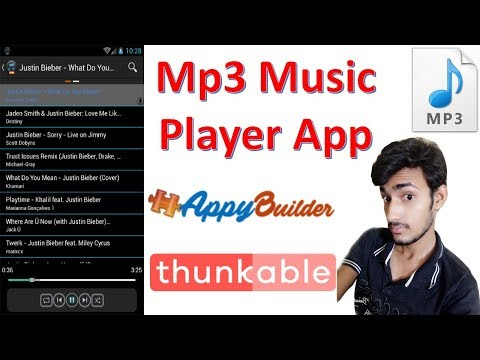 Mp3 Music player  Professional App banaye thunkable appybuilder me thunkable tutorial in hindi