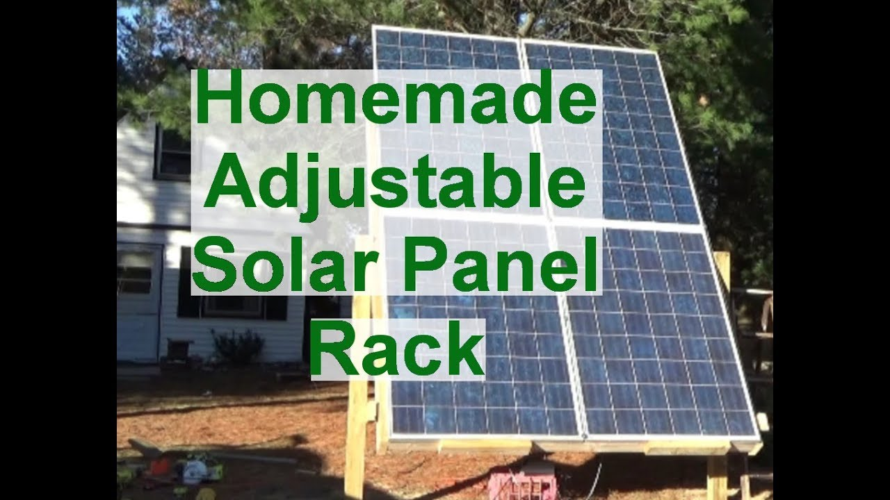 Building Adjustable Solar Panel Rack For Our Tiny House