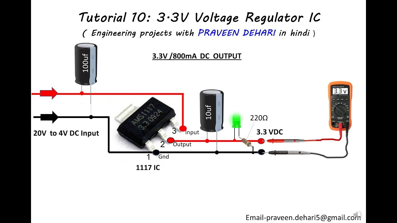 1117 33v Voltage Regulator Ic Tutorial 10 Youtube Integrated Circuit Basic