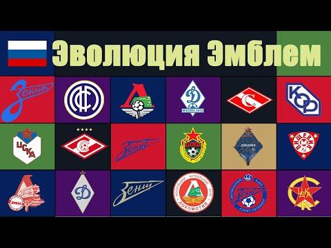 У каких клубов России чаще менялись эмблемы?