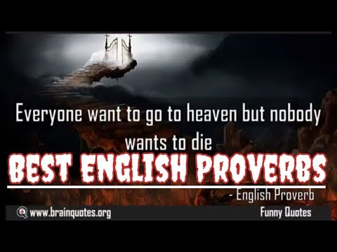 Best Famous English Proverbs - Simple But Profound Meaning
