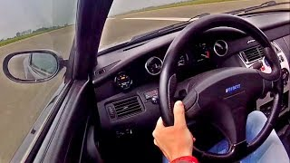 500HP Fiat Coupe 20V Turbo 0-200 Acceleration SOUND