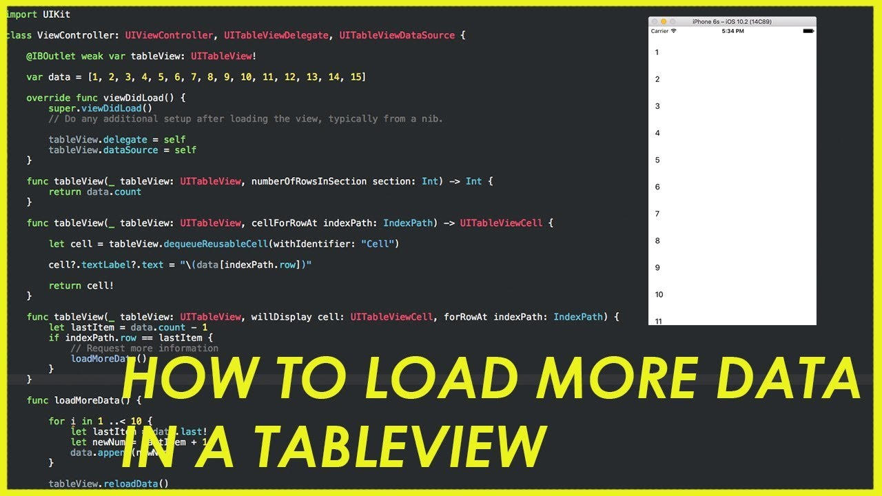 [Swift 3 Tutorial] - Pagination / Load more data in a UITableview