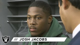 "Josh Jacobs: ""We're going to come in tomorrow and try to improve"" 
