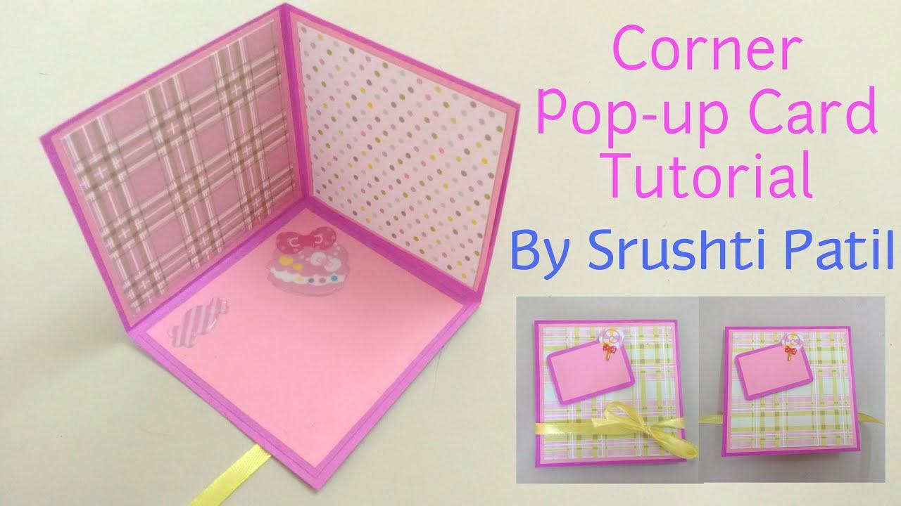 Corner pop up card tutorial by srushti patil youtube m4hsunfo