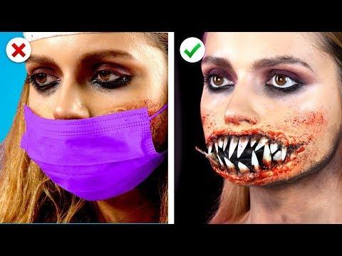 5 Spooky Halloween Makeup Ideas! DIY Halloween Party Looks thumbnail