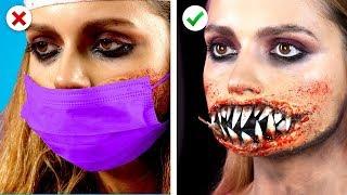 5 Spooky Halloween Makeup Ideas! DIY Halloween Party Looks