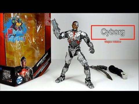 Magios Initiative-Review-DC Comics Multiverse Cyborg Justice League by Mattel. #Cora #Chinaski