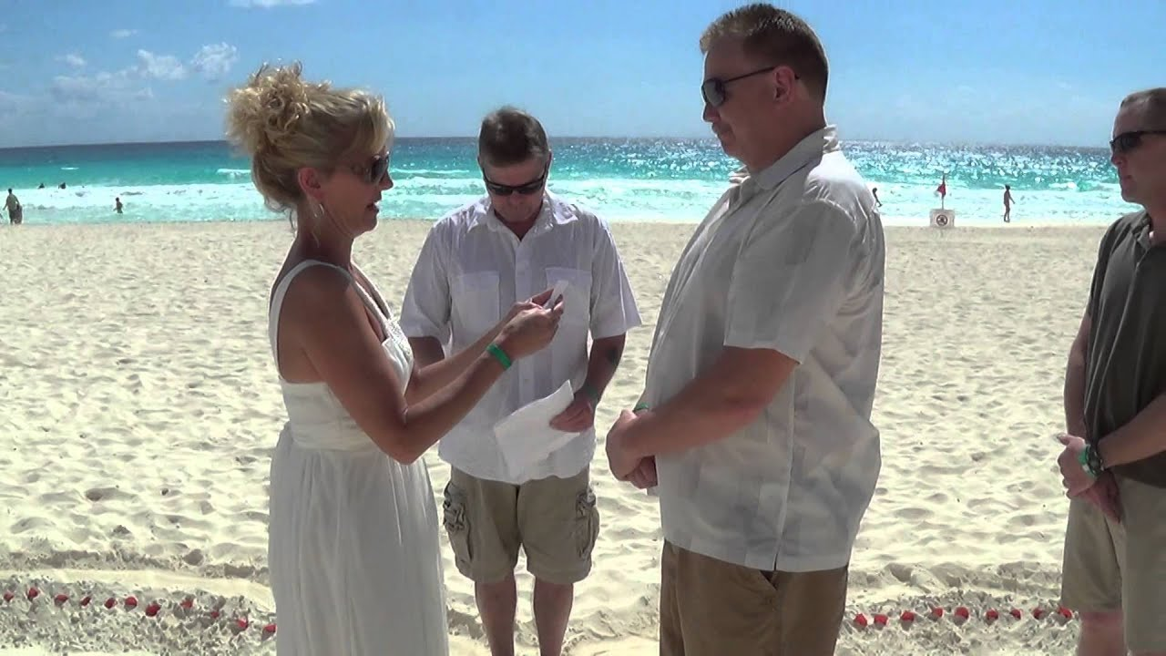 Beach Vow Renewal Ceremony: Tony & Karen Hoettel Beach Wedding / Vow Renewal 2014 30th