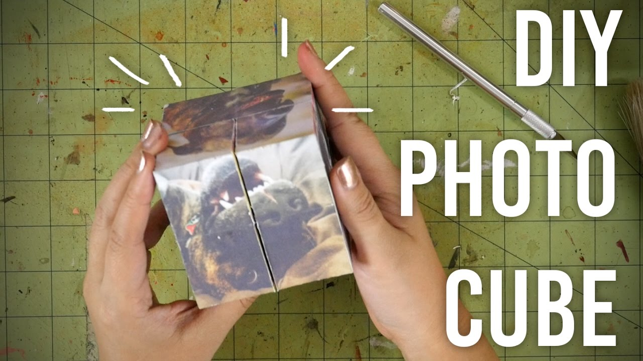 How To Make Folding Photo Cube Diy Great Gift Idea