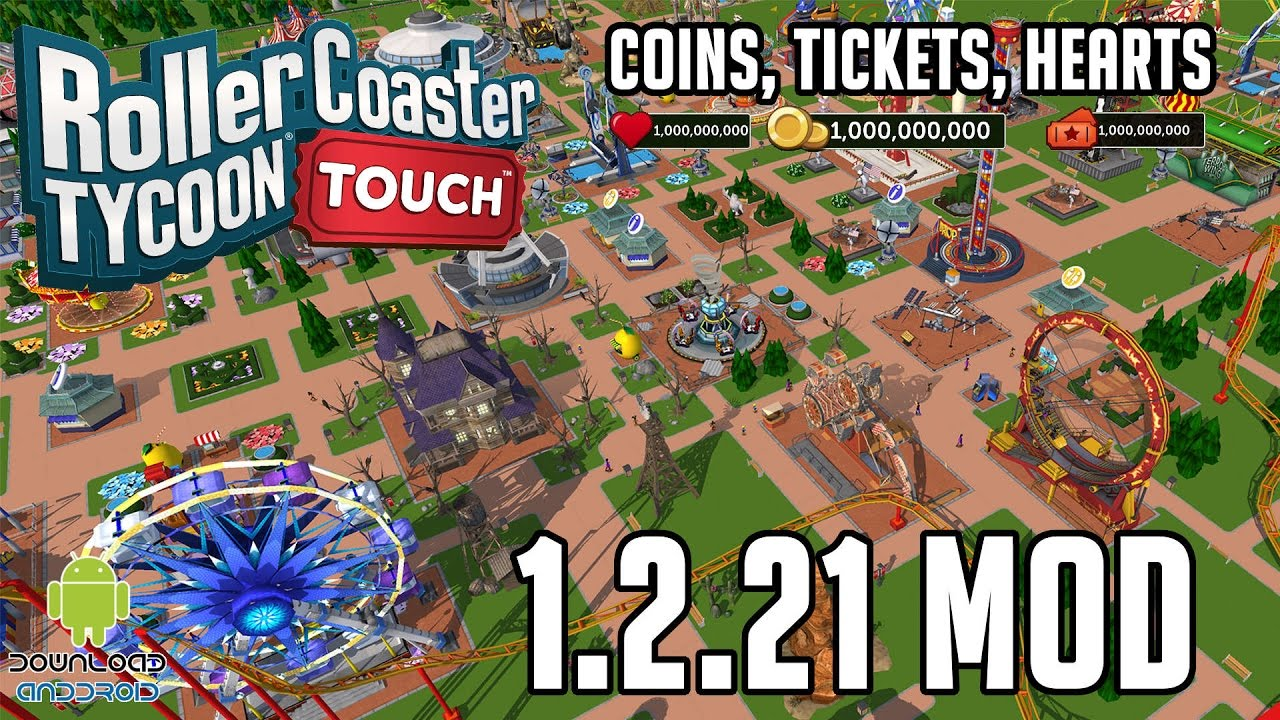 RollerCoaster Tycoon Touch 1 2 21 Mod (Coins, Tickets, Hearts) APK