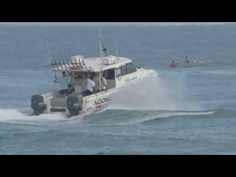 Noosa Charters Offshore Fishing Thru Noosa Bar