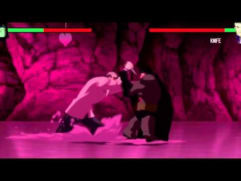 Batman vs Joker with healthbars