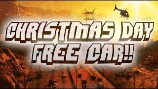 GTA V - CHRISTMAS DAY FREE CAR!? - ONLINE PS4 1.42