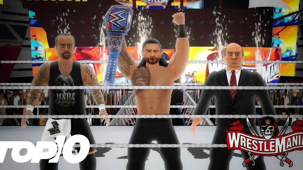 Download WR3D 2K21: Top 10 Wrestlemania 37 Moments!