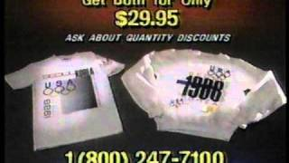 1988 Summer Olympics Commemorative Shirt Commercial