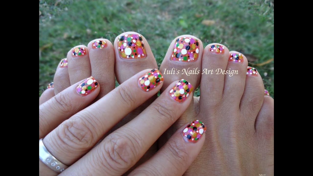 Toes Art Design Colortul Dots Easy Beginners Live Tutorial
