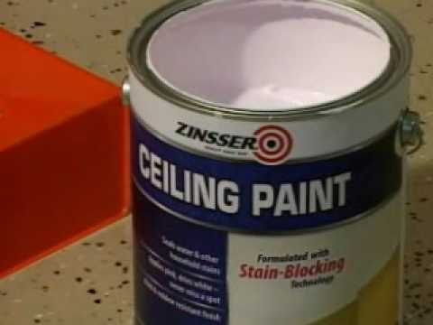 How To Video Ly Zinsser Ceiling Paint And Primer In One You