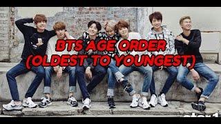 Video BTS AGE ORDER (OLDEST TO YOUNGEST) download MP3, 3GP, MP4, WEBM, AVI, FLV April 2018