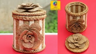 Download Diy Jewellery Box Made From Jute Rope And Popsicle