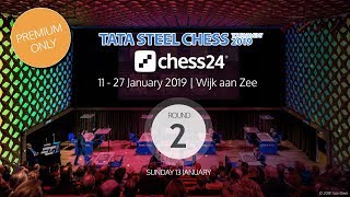 Round 2 - 2019 Tata Steel Chess Masters