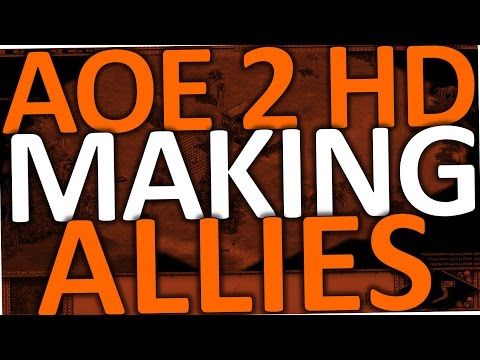 How To Make Allies In Age Of Empires 2 (AOE 2 HD Ally With AI)