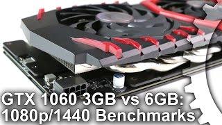 GTX 1060 3GB/6GB 1080p vs 1440p Gaming Benchmarks