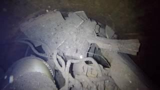 Před čištěním - Studnička v Holicích s obsahem stavebního odpadu je po vyčištění jako nová