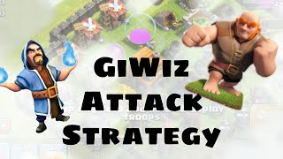 Clash Of Clans - GiWiz Three Star Perfect Strategy! Never Fail!