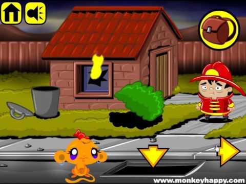 Счастливая обезьянка ПОМОГИТЕ спастись от злодеев Monkey Go, веселая игра для детей