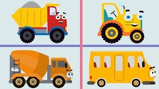 ПОЕЗД И МАШИНЫ - песня мультфильм про большой поезд железную дорогу и машинки для детей малышей