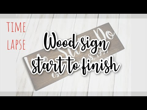Stenciling a Wood Sign - Hyperlapse video