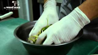 Woodman Grill - салат из слайсов конины и салата руккола