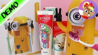 Dozownik do pasty do zębów Minionek test na żywo