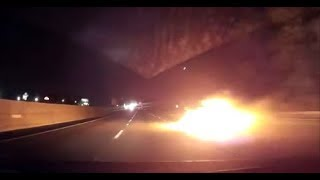 CAR CRASH COMPILATION #3 - Car Catches Fire - Caught on Dashcam