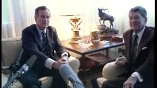 MT299A President Bush Visits with Former President Reagan at Fox Plaza - 26 April 1989
