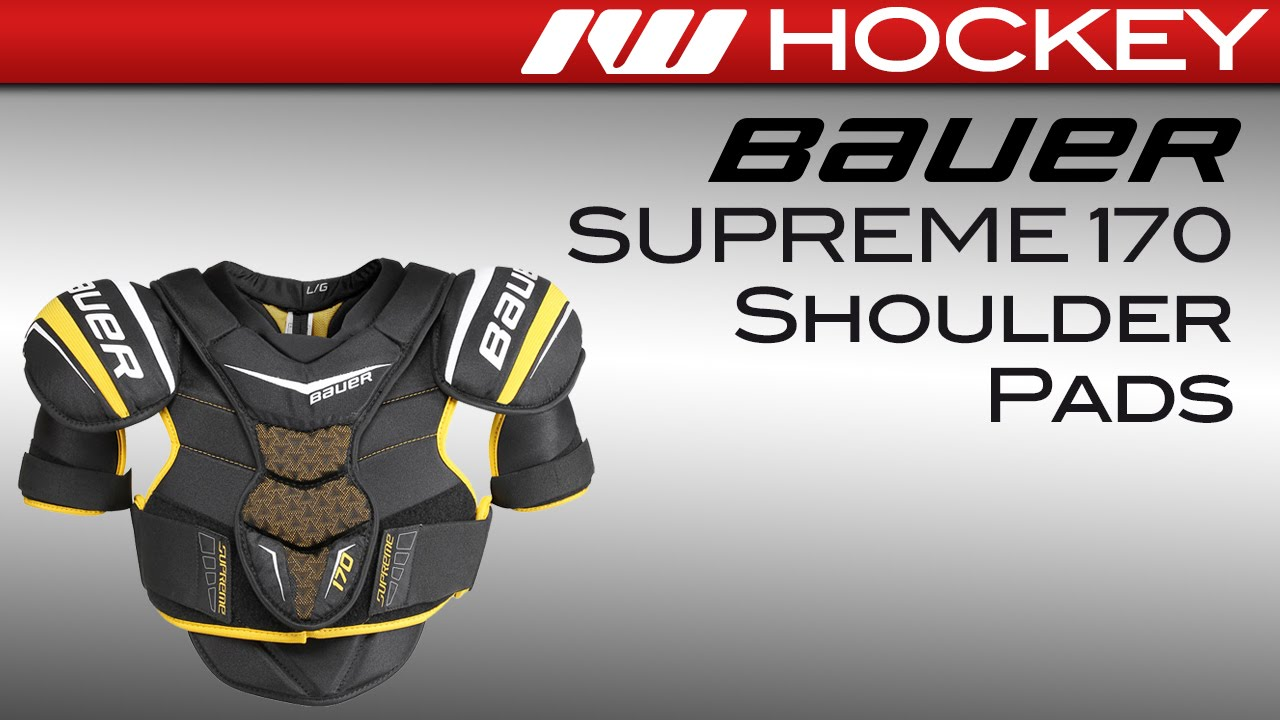 1a506617beb Bauer Supreme 170 Hockey Shoulder Pads Review - YouTube