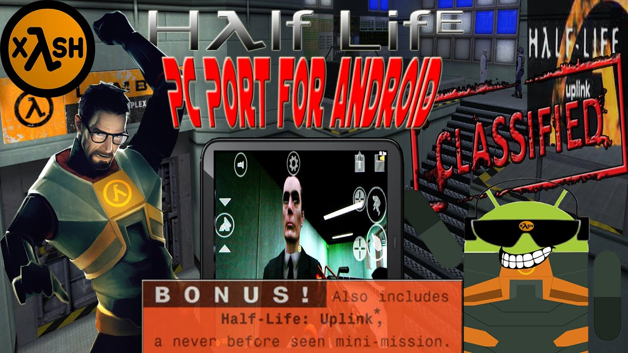 Half Life: Uplink on Android in HD with Xash3D (Note 2)