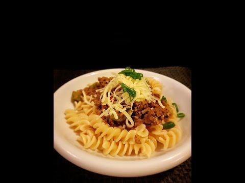 Fusilli Pasta With Bolognese Sauce Recipe Resep Fusili Pasta Bolognese