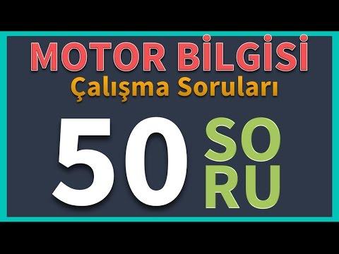 Motor Bilgisi Çalışma Soruları (50 soru)