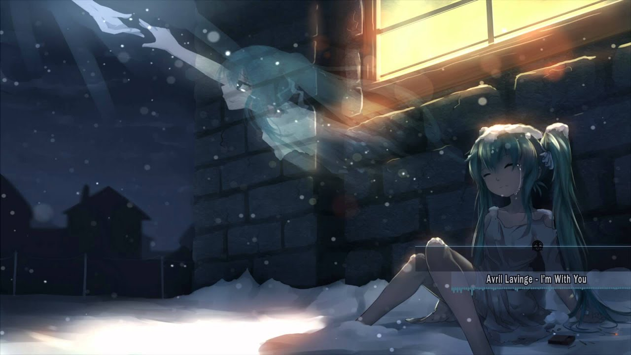 Cute Little Girl In Rain Wallpaper Nightcore I M With You Youtube