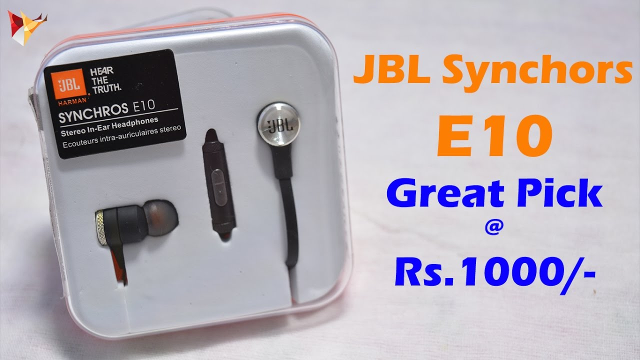 b36b418b26a JBL Synchros E10 In-Ear Headphone with Mic Review | Best 1K Priced ...