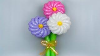 Крученый цветок из воздушных шаров / Twisted flower of balloons (Subtitles)