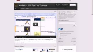 excelisfun: How To Search For Excel Videos, Find Playlists and Download Workbooks 2012 YouTube